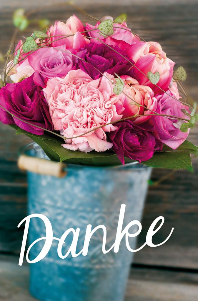 DieGeschenkkorbmacher - Grußkarte Danke Blumen